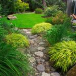 Градина с идея за суха река