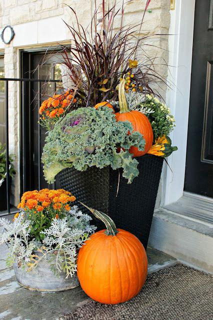 Есенни градински аранжировки.