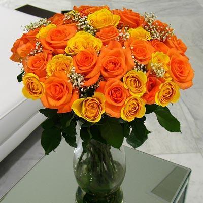 жълти и оранжеви рози - страстни мисли